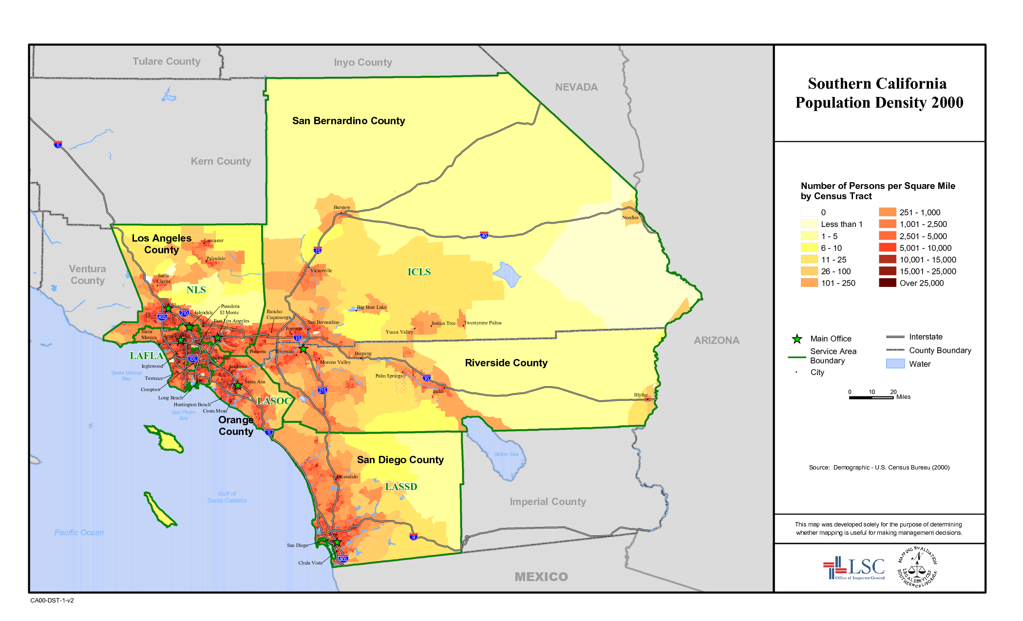 USA County Population Map Individual States In Comments - Population density map us census california