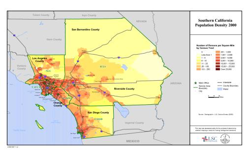 Southern California Population Density 2000