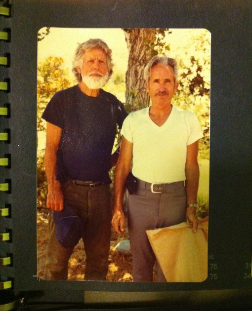 Rollie (left) with Grandpa Bob, mid-1980s